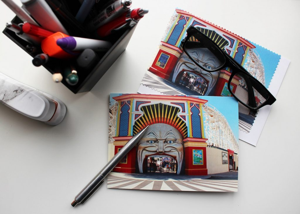 Luna park melbourne greeting card gt madproducts