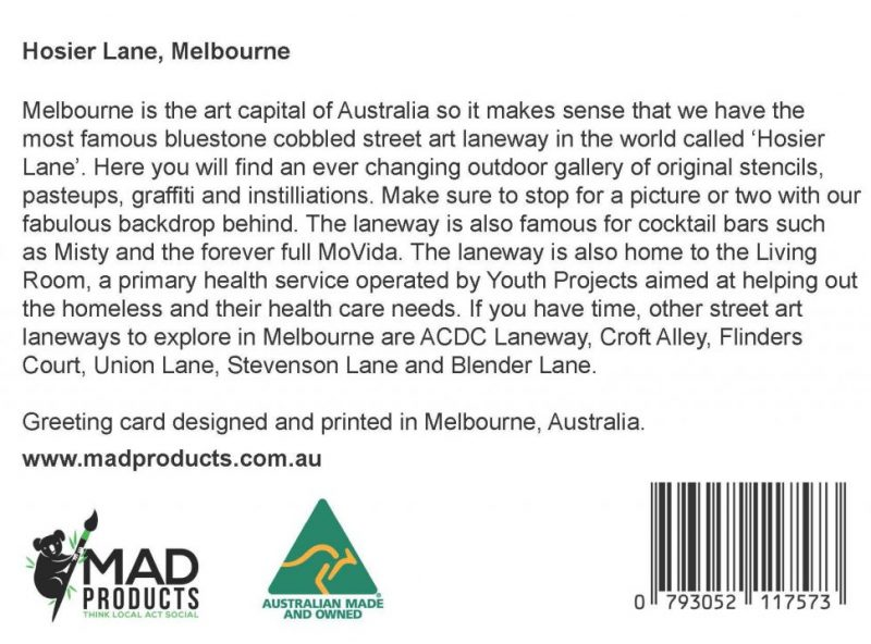 GreetingCards_Melbourne_HosierLane_MADproducts_A6 SizeBack
