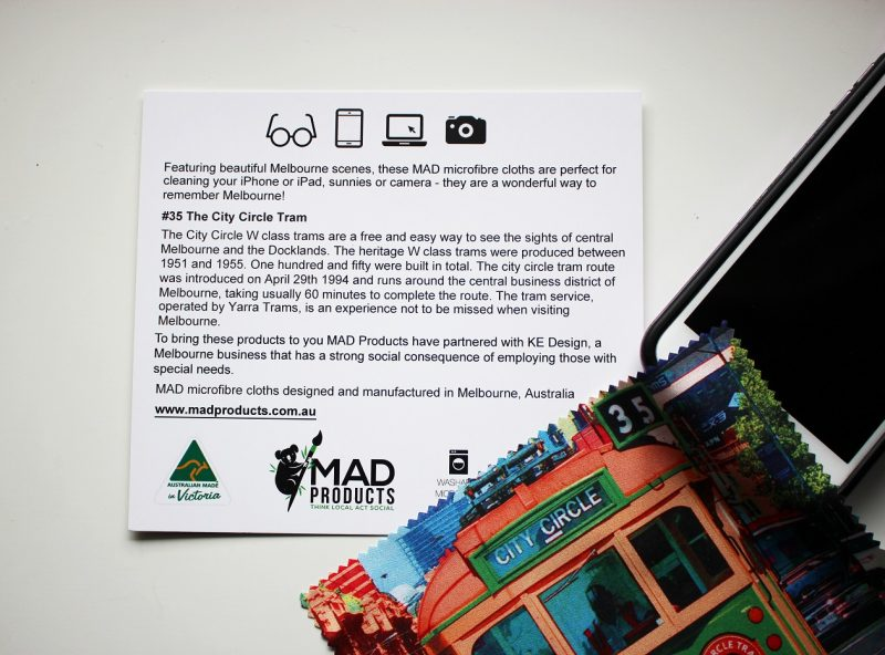 Tram_Melbourne_Microfibre cloth_MADproducts__3958