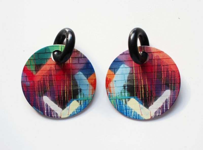Streetart_DrippingPaint_Earring32mm_5243