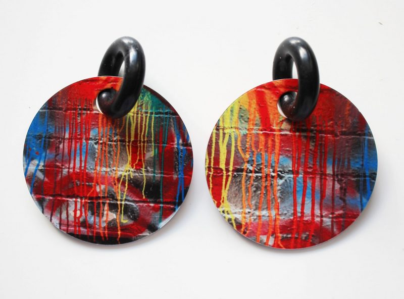 Streetart_DrippingPaint_Earring32mm_5247