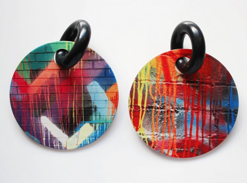 Streetart_DrippingPaint_Earring32mm_5249