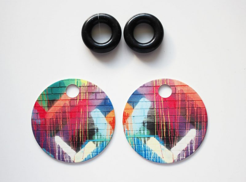 Streetart_DrippingPaint_Earring32mm_5251