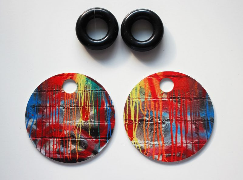 Streetart_DrippingPaint_Earring32mm_5253