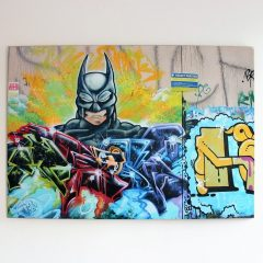 Batman graffiti picture customised on wood