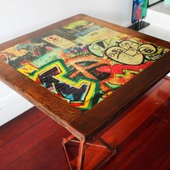 Hosier Lane cafe table