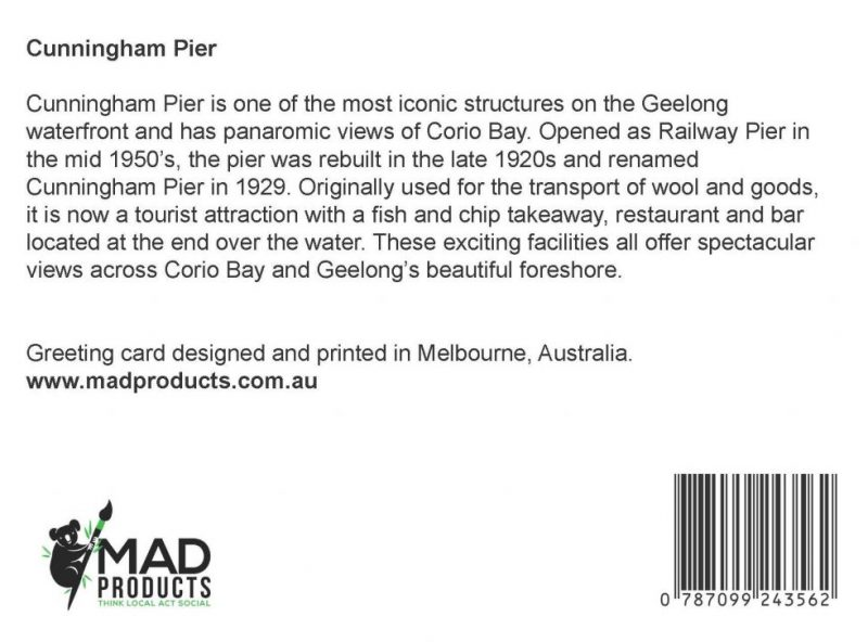GreetingCards_Geelong_CunninghamPier_MADproducts_A6 SizeBack